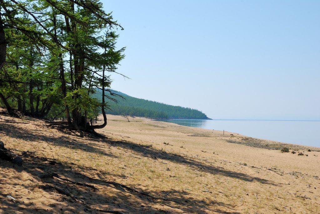 Хубсугул. Песчанный пляж