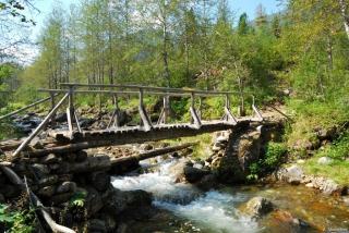 Мост через реку Слюдянку